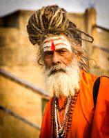 Bearded Sadu in Varanasi