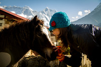 Girl Meets Horse in the Himalayas